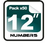 "12"" Race Numbers - 50 pack"